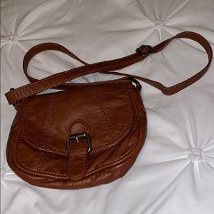Brown Leather Crossbody Purse, Small
